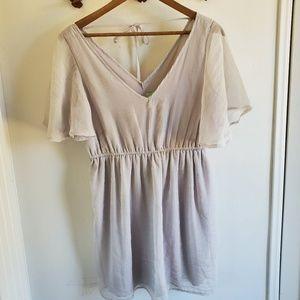 Johnny Martin Silver V-Neck Mini Dress | 7